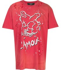 domrebel amour distressed t-shirt - red