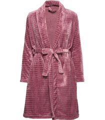 decoy short robe w/stripes morgonrock rosa decoy