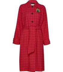 vilda wollen jas lange jas rood custommade