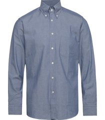 pin dot indigo shirt overhemd casual blauw eton