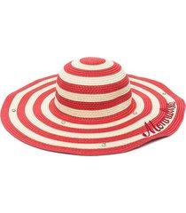 monnalisa wide-brimmed bicolour hat - neutrals