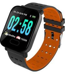 bakeey m20 1.3 \'pantalla grande real hora hr presión arterial de oxígeno monitor reloj inteligente de larga espera - naranja