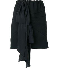 nº21 ribbon panelled mini skirt - black