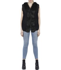 love token sidney faux fur vest