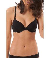 women's lively the t-shirt bra, size 36b - black