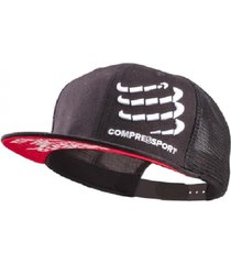 boné trucker compressport cap preto .
