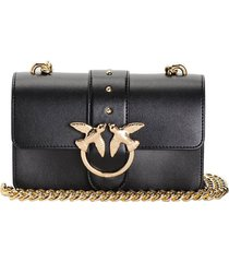 pinko love mini icon simply c black crossbody bag