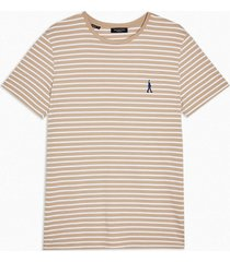 mens grey selected homme gray stripe t-shirt