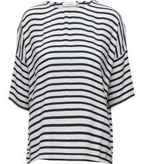 mains tee stripe 5687 t-shirts & tops short-sleeved blauw samsøe & samsøe