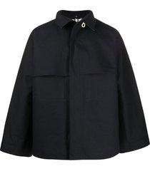 jil sander bonded boxy jacket - black