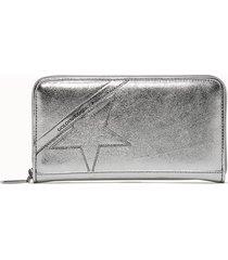 golden goose deluxe brand portafoglio star large colore argento