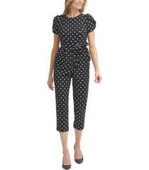 calvin klein dotted cropped jumpsuit
