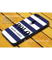 white blue striped polo ralph lauren iphone 7 7+ 6 6s 6+ 6s+ 5 5s 5c 4 4s case