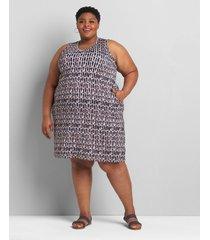 lane bryant women's sleeveless swing dress 38/40 abstract print