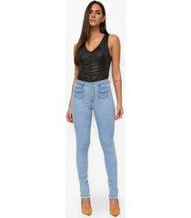 calça jeans express hot pants mareu - feminino