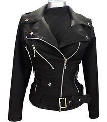 chaqueta para mujer chamarra cuero sintetico