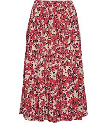 slindiana skirt knälång kjol röd soaked in luxury