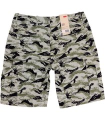 levi's men's premium cotton relaxed fit cargo shorts camo 124630299 all sizes