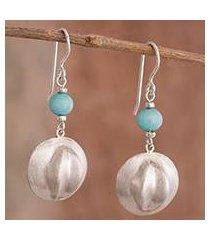 amazonite dangle earrings, 'handsome hats' (peru)
