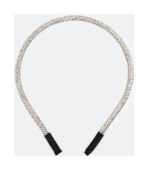 tiara fina em strass | accessories | prata | u