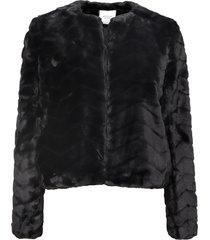 chaqueta jacqueline de yong evan negro - calce regular