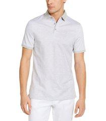 calvin klein liquid touch herringbone polo shirt