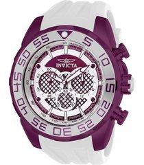 reloj invicta blanco modelo 263ha para hombres, colección speedway