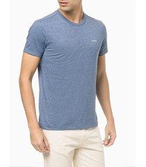 camiseta mc slim básica mouline - azul médio - p