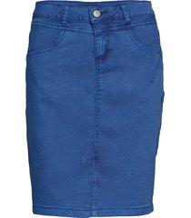 amalie skirt - knee lgd. kort kjol blå cream
