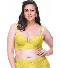 sutiã sempre sensual lingerie retrô amarelo - kanui