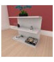 mesa de cabeceira minimalista moderna em mdf cinza