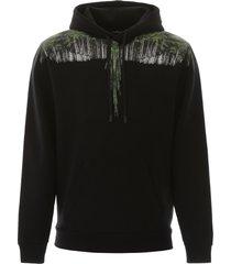 marcelo burlon wood wings print hoodie