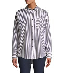 railroad striped boyfriend shirt