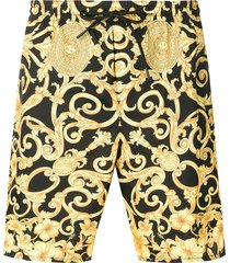 versace baroque print swim shorts - yellow