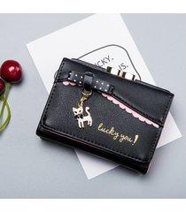 billetera mujeres- monedero de mujer monedero de moda-negro