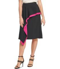 dkny asymmetrical ruffled skirt
