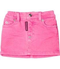 dsquared2 pink denim skirt