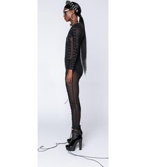 akira all fun and games mesh lace up jumpsuit
