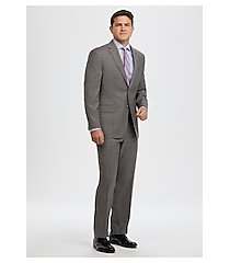 executive collection tailored fit glen plaid men's suit - big & tall by jos. a. bank