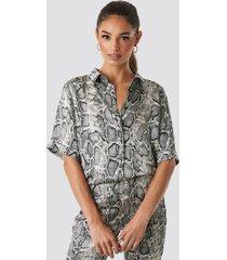 rut&circle lea snake shirt - grey