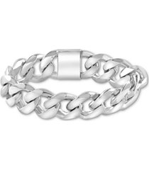 effy men's heavy curb link bracelet in sterling silver