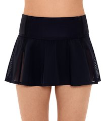 reebok woven swim skirt women's swimsuit