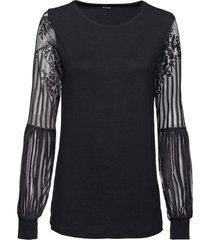 maglia con maniche lunghe in pizzo (nero) - bodyflirt