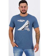 camiseta ecko spray it estampada azul