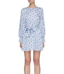 'molli' floral print belted mini dress