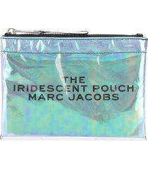 marc jacobs iridescent flat pouch - blue