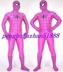 halloween cosplay suit hot pink spiderman hero suit catsuit costumes unisex s238