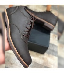 zapato oxford casual - marrón