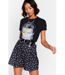 womens dot it right high-waisted shorts - black