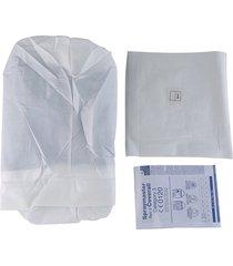 ropa protectora heat-sealed mono traje azul gown-white global de aislamiento